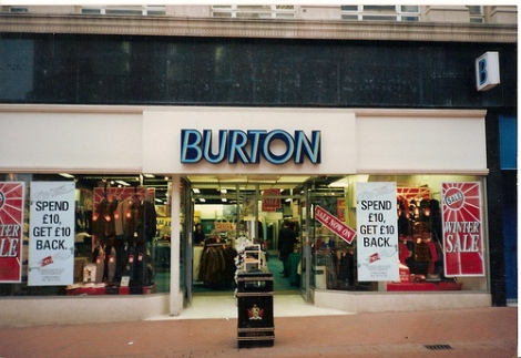 Burtons Mens Outfitters c.1990