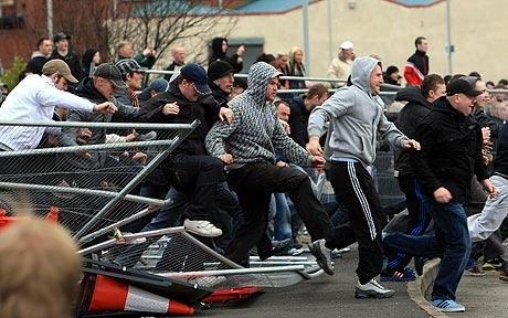 An average English Saturday riot